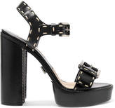 Michael Kors Janey stitched leather sandals