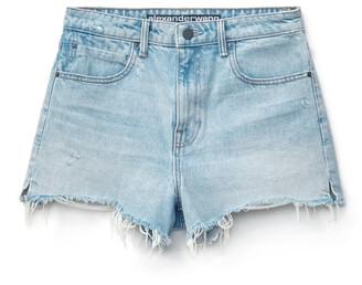 Denim Bite Bleach Shorts