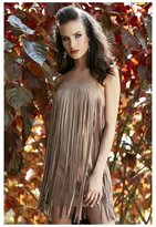 Union of Angels Guiliana Fringe Dress - Faux Suede