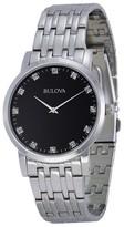 Bulova 96D106 Diamond Black Dial Stainless Steel Men