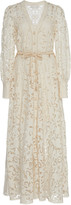 Zimmermann Bonita Bow-Detailed Crochet-Knit Cotton Lace Dress