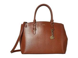 Lauren Ralph Lauren Saffiano Double Zip Satchel Large