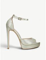 Carvela Lopez metallic faux-leather stiletto sandals