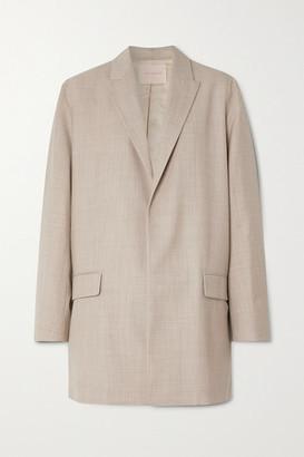 Roksanda Shida Melange Wool And Cashmere-blend Blazer - Beige
