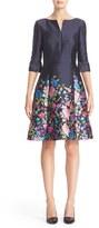 Oscar de la Renta Women's Floral Print Silk & Cotton Mikado Dress
