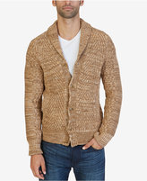 Nautica Men's Mixed Knit Shawl-Collar Cardigan