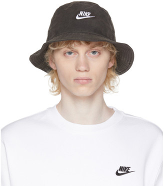 Nike Black Washed Bucket Hat