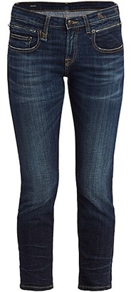 R 13 Biker Boy Low-Rise Jeans