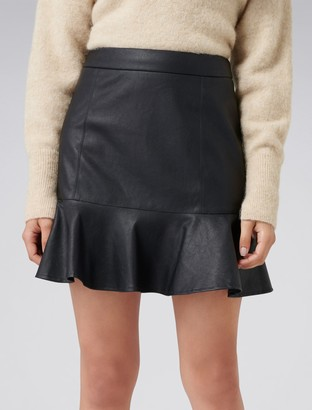 Forever New Rita PU Fit & Flare Skirt - Black - 16