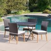 Bronx Ivy Catalano 5 Piece Dining Set with Cushions Ivy
