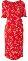Topshop Maternity ditsy print frill wrap dress
