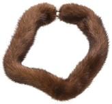 Van Cleef & Arpels Brown Mink Necklace