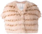 Yves Salomon silk panel bolero - women - Silk/Cotton/Fox Fur - 40