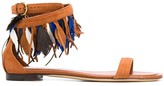 Tod's feather boho sandals