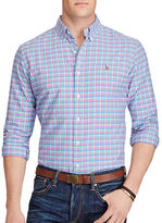 Polo Ralph Lauren Big and Tall Plaid Cotton Oxford Shirt