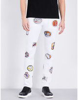 Versace Sketched Patch Print Stretch-cotton Trousers