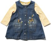 M&Co Floral embroidered denim pinny and top set