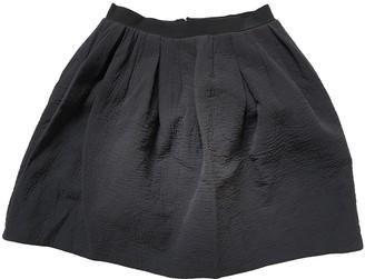 Carven Black Wool Skirts