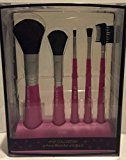 Pop Beauty Pop Collection 5 Piece Pink Brush Set with Stand