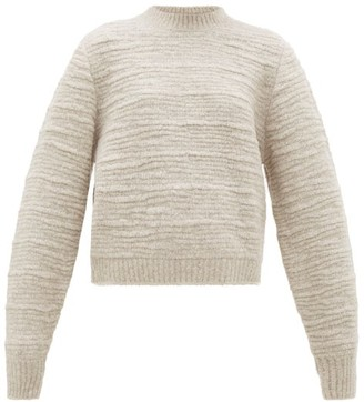 The Row Nuru Wool-blend Boucle Sweater - Womens - Light Grey