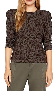 Sanctuary Leopard Print Puff Sleeve Top