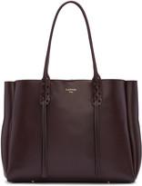Lanvin Burgundy Leather Small Shopper Bag