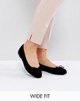 Asos Libra Wide Fit Ballet Flats