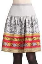 Oscar de la Renta Embroidered Skirt