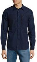 G Star Powel Cotton Button-Down Shirt
