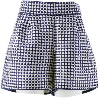 Oscar de la Renta \N Blue Silk Shorts