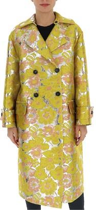 MSGM Floral Jacquard Coat