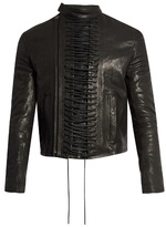 Haider Ackermann Laced-up Leather Jacket