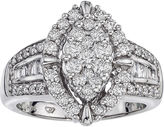 JCPenney FINE JEWELRY 1 CT. T.W. Diamond 14K White Gold Ring