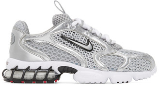 Nike Silver and White Spiridon Cage 2 Sneakers