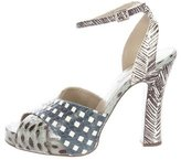 Marc Jacobs Painted Snakeskin Sandals