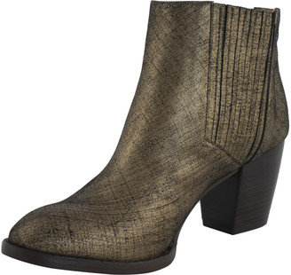 Maison Auguste - Bronze Leather Ankle Boots - leather | bronze | 38,5 - Bronze