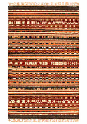 GoodWeave - Shilong Kilim Rug - wool   cotton   red - Red/Red
