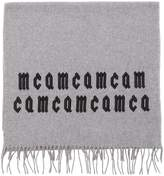 McQ Embroidered Fringed Wool Scarf