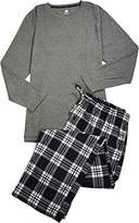 Hanes Big Mens Long Sleeve Thermal X-Temp Top and Fleece Pant Sleep Set
