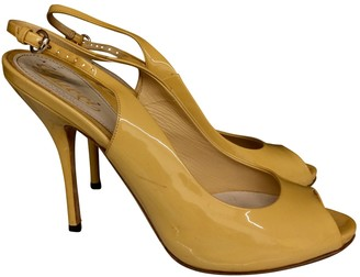 Gucci Yellow Patent leather Heels