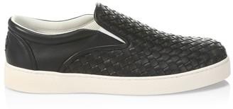 Bottega Veneta Dodger Woven Leather Sneakers