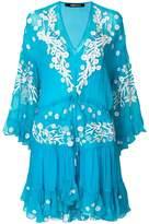 Roberto Cavalli embroidered ruffle dress