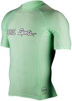 Hugesports Men's Splice UV Sun Protection UPF50+ Crew Neck Skins Rash Guard Short Sleeves