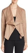 Lysse Aspen Draped Faux Suede Jacket