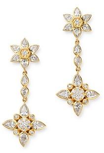 Bloomingdale's Diamond Flower Drop Earrings in 14K Yellow Gold, 2 ct. t.w. - 100% Exclusive