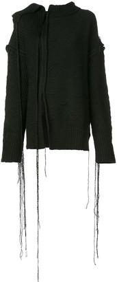 Yohji Yamamoto distressed style sweater