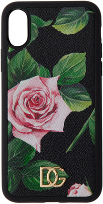 Dolce & Gabbana Black Rose iPhone XS Case