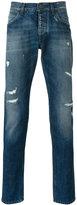 Dolce & Gabbana distressed straight jeans - men - Cotton - 46