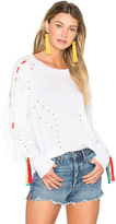 Wildfox Couture Solid Sweater in White