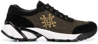 Mr & Mrs Italy Black And Gold Sneakers